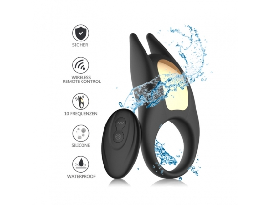 Lucas II Devil Ear Vibrating Ring with Remote