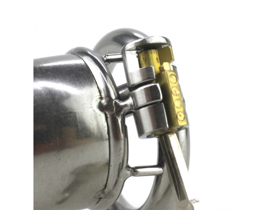 Built-in Lock Chastity Cage With Penis Plug