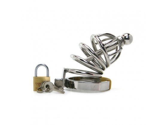Asylum Chastity Device with Cock Plug