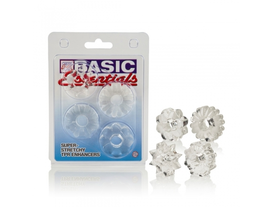 Basic Essentials Set of 4 Cock Rings