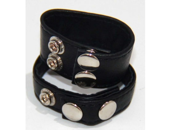 Double Trouble BDSM Strap Cock Ring with Studs