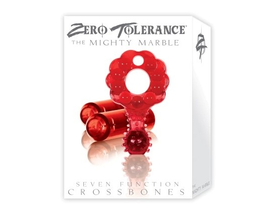 Crossbones Mighty Marble Double Bullet in Red