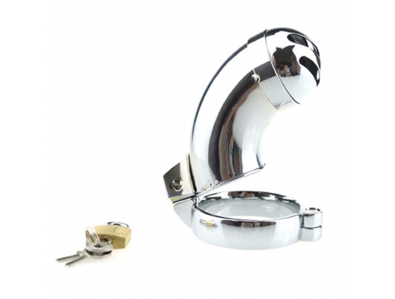 Brutus Male Steel Chastity With Sprinkler XL