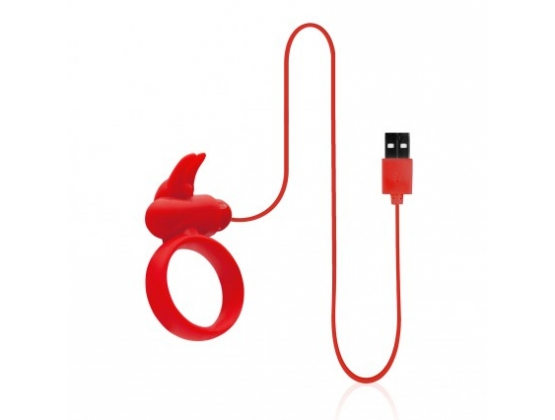 Buckle Up USB Silicone Rabbit Cockring