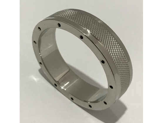 Cool & Knurl Steel Cock Ring