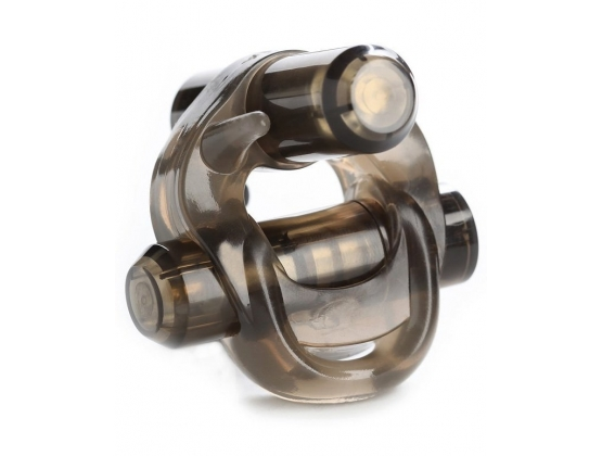 Crossbones Running Bull Double Bullet Cock Ring
