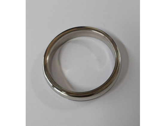Donut Steel Cock Ring with Groove