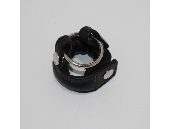 Slick Weighted Cock Ring in Leather