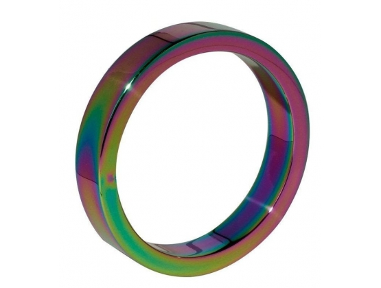 Heavy Duty Rainbow Metal Cock Ring 10mm