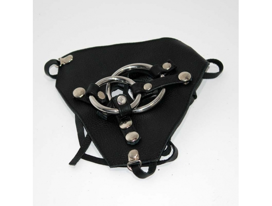 Dual Cock Ring Strap On Harness
