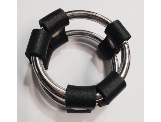 Plain Tube Steel Double Cock Ring Black