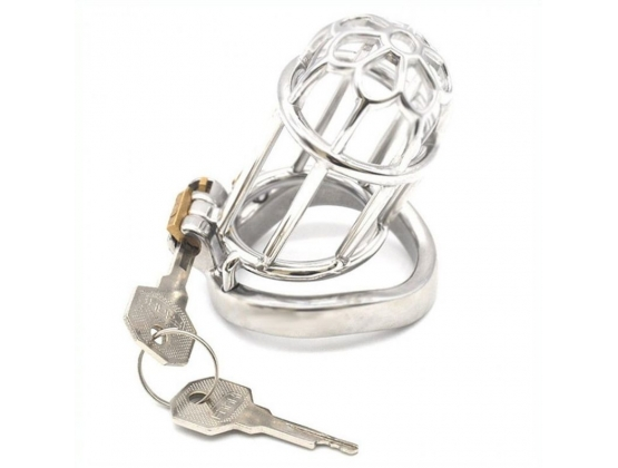 Plum Blossom Bend Ring Chastity Device