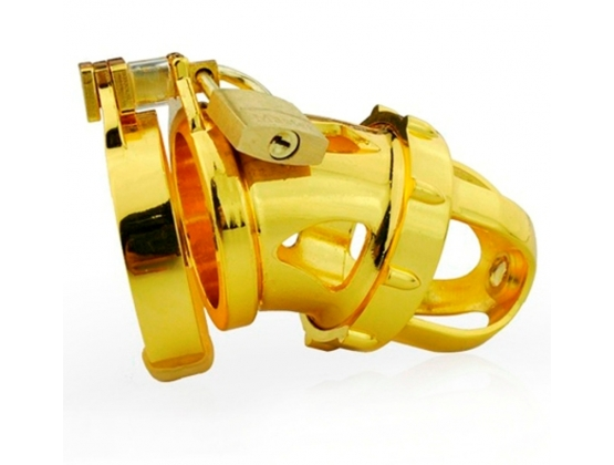 Gold Kinger Male Chastity Device