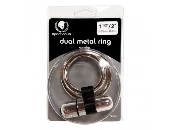 Vibrating Dual Metal C Ring with Bullet