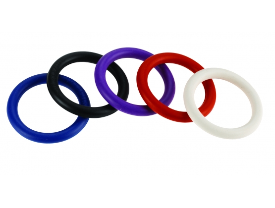 Rainbow Nitrile Cock Ring 5 Pack