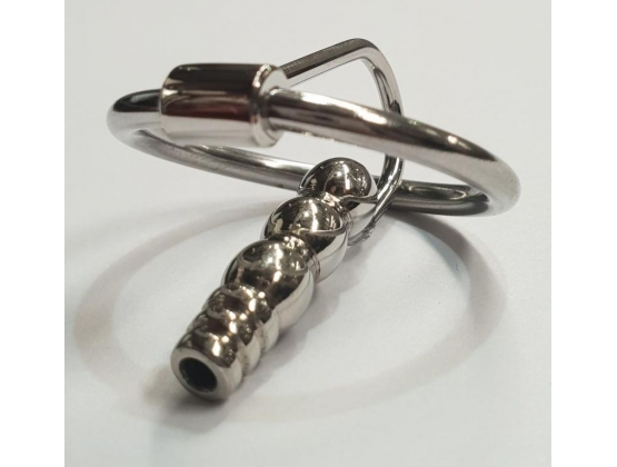 Round Tip Ribbed Penis Plug & Glans Ring