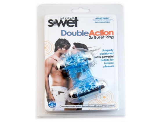 S-Wet Double Action Dual Bullet Ring Blue