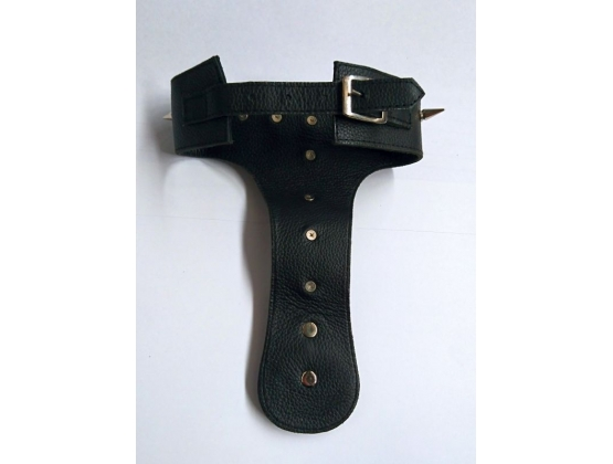 Devils Spiked Leather Collar with O Ring