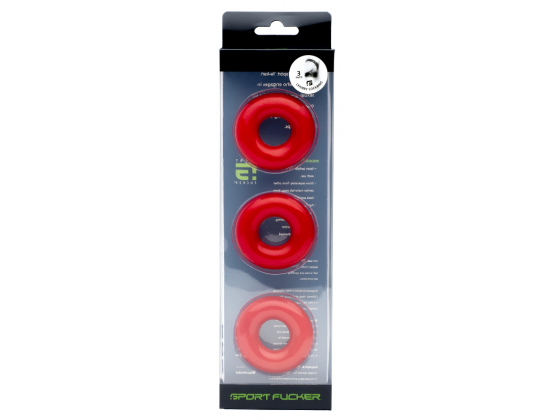 Sport Fucker Chubby Cockring 3 pack