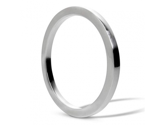 Square Edged Steel Cock Ring 6mm