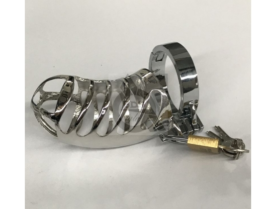 The Protector Ribbed Chastity Device