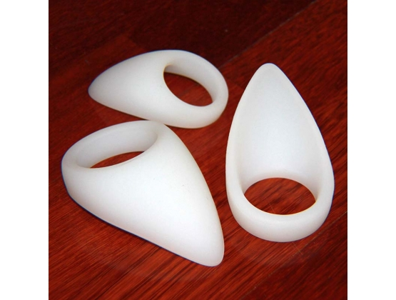 White Silicone Tear Drop Cock Ring
