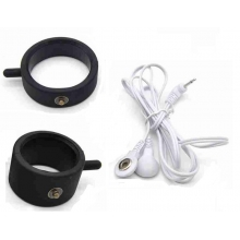Double Silicone Electric Shock Cock & Ball Ring